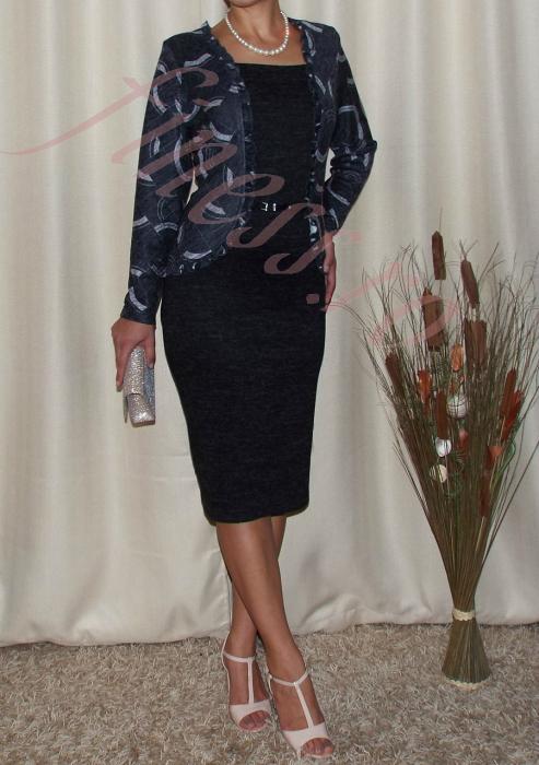 Rochie office eleganta din tricot cu accesoriu - Martina 0
