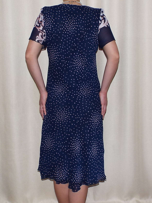 Rochie vaporoasa cu imprimeu si maneca scurta - Eliana Roz 1