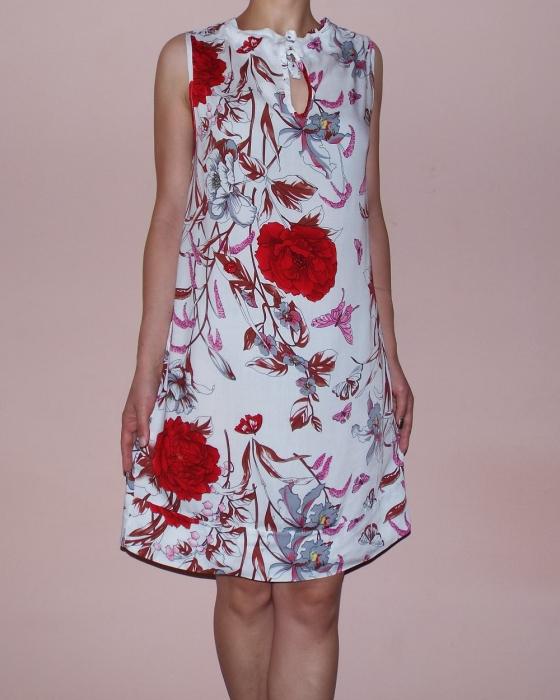 Rochie vaporoasa de vara cu imprimeu floral - Lara 1