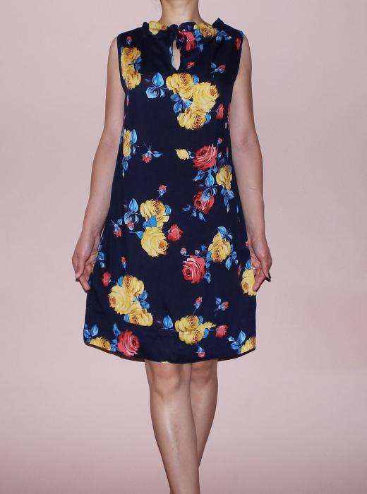 Rochie vaporoasa de vara cu imprimeu floral - Lara 0