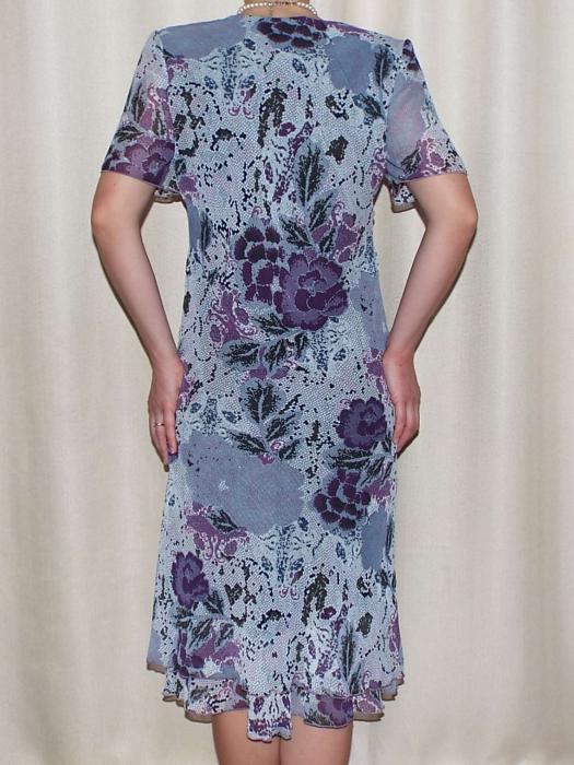 Rochie vaporoasa din voal cu imprimeu floral - Lavinia Gri 1