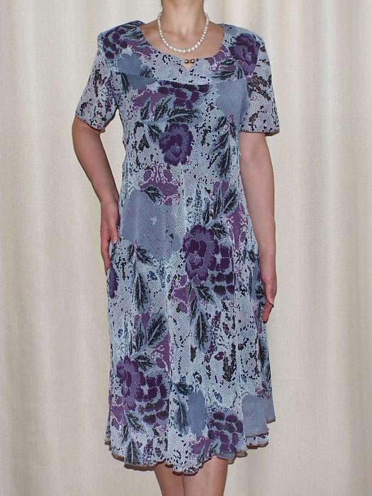 Rochie vaporoasa din voal cu imprimeu floral - Lavinia Gri 0