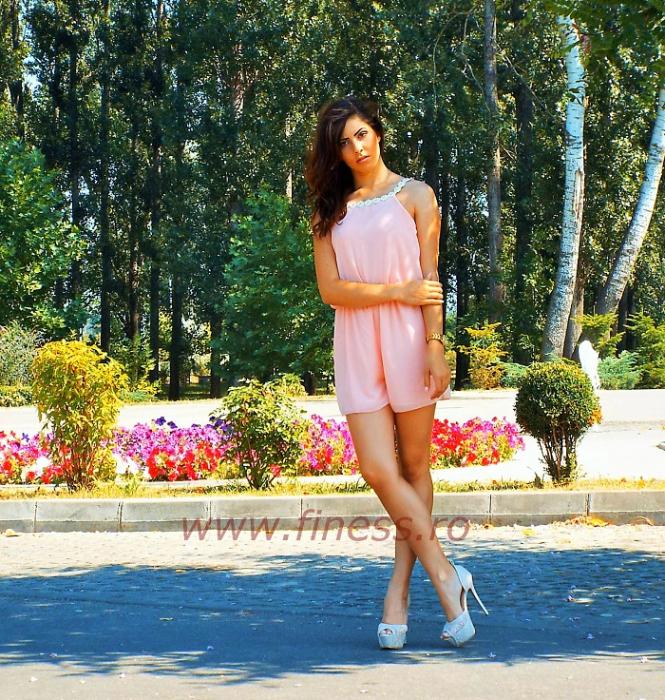 Salopeta scurta de vara cu margarete - Pink Daisy 2