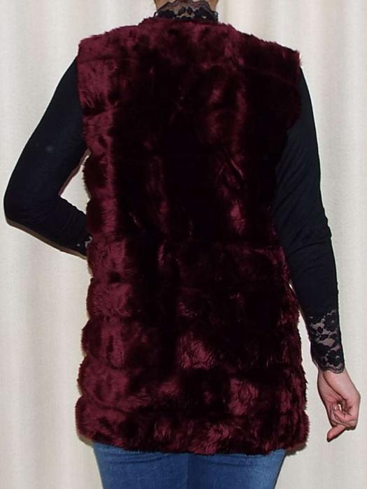 Vesta dama din blana ecologica - Melisa Grena 1