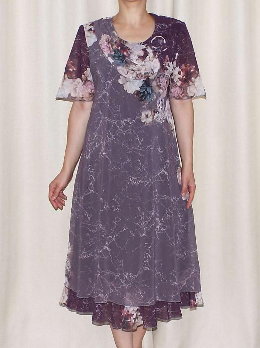 Rochie eleganta din voal cu maneca scurta - Victoria 16 [1]