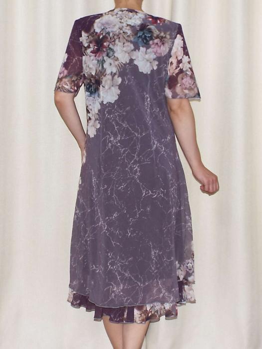 Rochie eleganta din voal cu maneca scurta - Victoria 16 [2]
