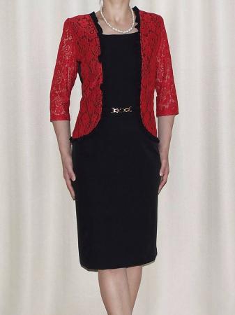 Rochie eleganta cu maneca trei sferturi - Anabela Rosu0