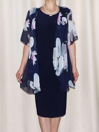 Compleu elegant dama - rochie si blazer - Ama Floral [1]