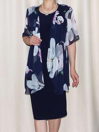 Compleu elegant dama - rochie si blazer - Ama Floral [0]