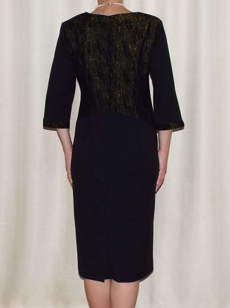 Rochie eleganta cu maneca trei sferturi si accesoriu - Andrada1