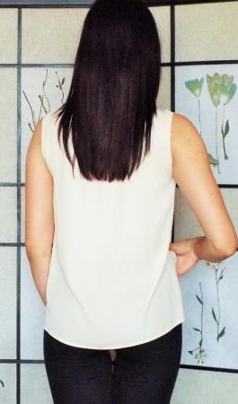 Bluza dama voal piersica- Contrast2