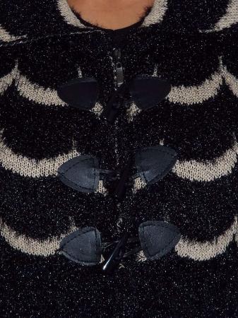 Cardigan dama tricotat cu guler si buzunare - C021 [3]
