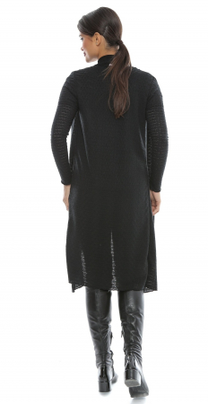 Cardigan negru perforat cu maneci lungi - CDG51