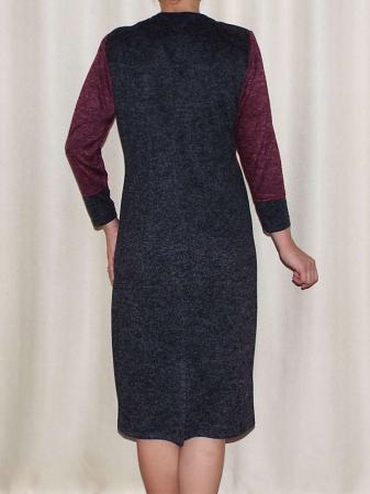 Rochie de zi din tricot cu maneca trei sferturi - Codruta1