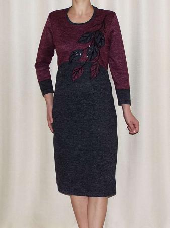 Rochie de zi din tricot cu maneca trei sferturi - Codruta0