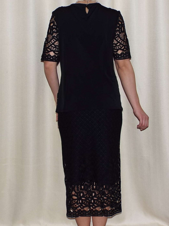 Costum dama din dantela brodata neagra - ALMA [1]