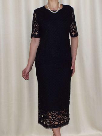 Costum dama din dantela brodata neagra - ALMA [0]