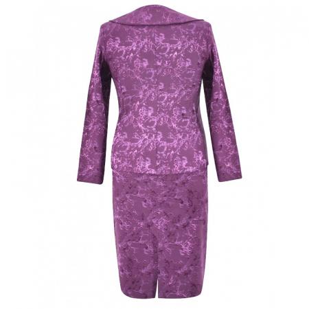 Costum dama elegant din jacard mov - C011FS111
