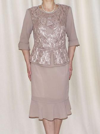Costum dama elegant din voal si dantela - Elvira Crem [1]