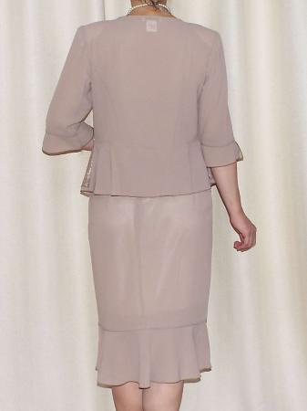 Costum dama elegant din voal si dantela - Elvira Crem [2]