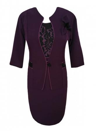 Costum elegant de dama cu brosa detasabila - Sonia MOV0
