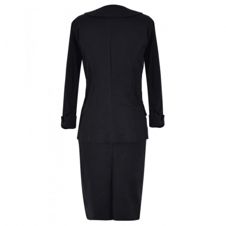 Costum office negru cu maneca trei sferturi - C004FS8.1 [1]