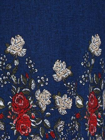 Rochie lejera cu imprimeu floral - Matilda Albastru [2]