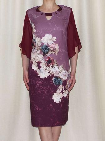 Rochie eleganta din stofa cu maneci din voal - Eliana Bordo1