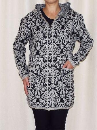 Cardigan dama din tricot cu gluga si buzunare - C015 [0]