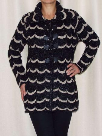 Cardigan dama tricotat cu guler si buzunare - C021 [0]