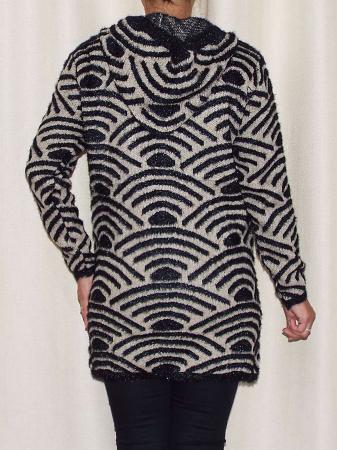 Cardigan dama tricotat cu gluga si buzunare - C023 [2]