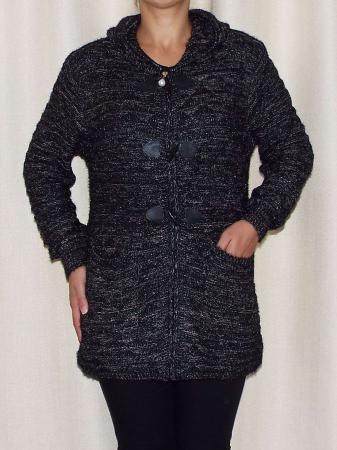 Cardigan dama din tricot cu gluga - C020 [0]