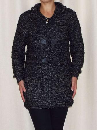 Cardigan dama din tricot cu gluga - C020 [1]