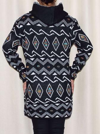 Cardigan dama din tricot cu gluga si buzunare  -C014 [1]