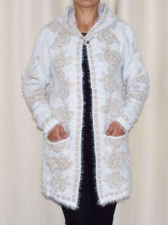 Cardigan dama tricotat cu gluga si buzunare - C013 [2]