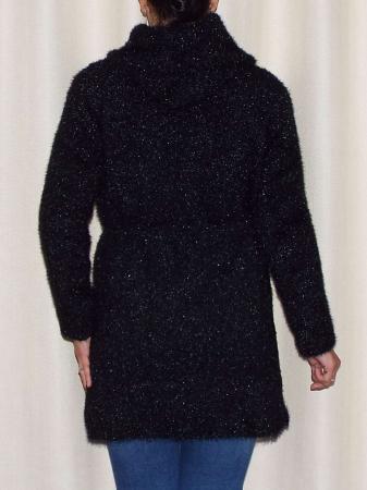Cardigan dama tricotat cu buzunare si gluga - C019 [2]