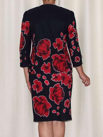 Compleu dama office cu imprimeu floral - Erin Rosu [2]