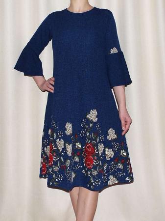 Rochie lejera cu imprimeu floral - Matilda Albastru [0]