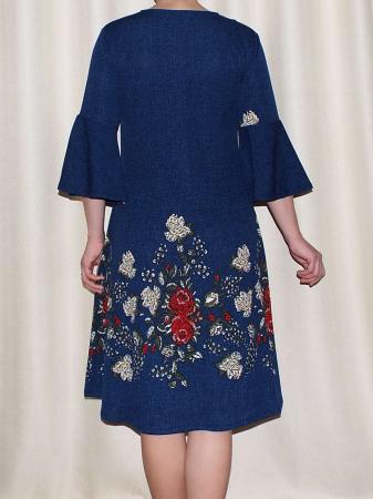 Rochie lejera cu imprimeu floral - Matilda Albastru [1]