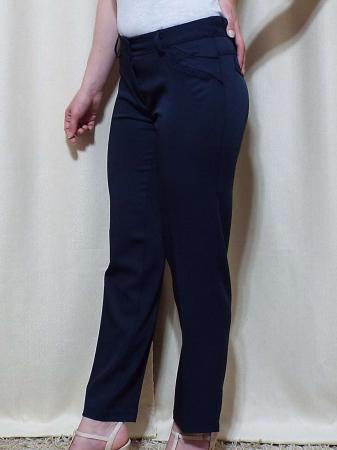 Pantaloni dama eleganti bleumarin din stofa - P013 [2]