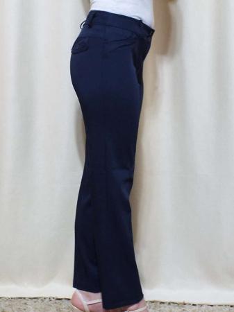 Pantaloni dama eleganti bleumarin din stofa - P013 [3]