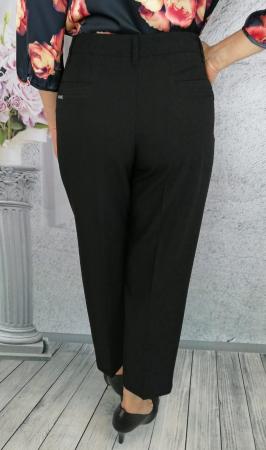 Pantaloni dama eleganti din stofa neagra - P0141