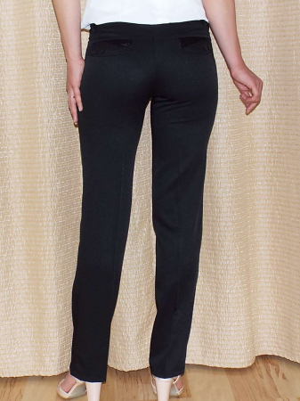 Pantaloni dama eleganti negri cu croi drept - P012 [1]