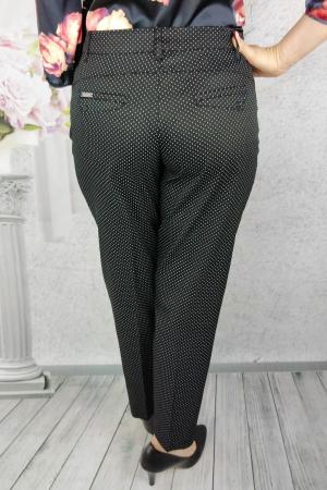 Pantaloni dama negri din tercot cu buline albe - P016 [2]
