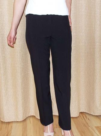 Pantaloni negri dama cu elastic in talie - P0100