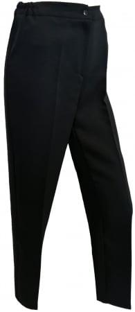 Pantaloni negri dama cu elastic in talie - P0101