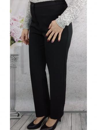 Pantaloni negri dama cu elastic in talie - P0103