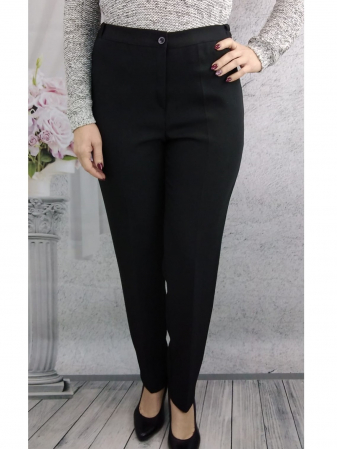 Pantaloni negri dama cu elastic in talie - P010 [0]