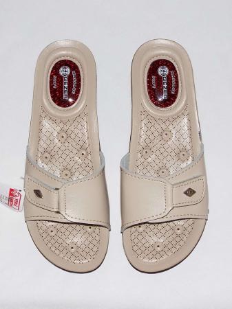 Papuci dama comozi cu gel pe talpa si catarama reglabila- Gezer Crem [2]