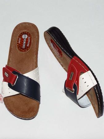 Papuci dama cu catarama reglabila si talpa anatomica cu gel - Gezer 4 [0]